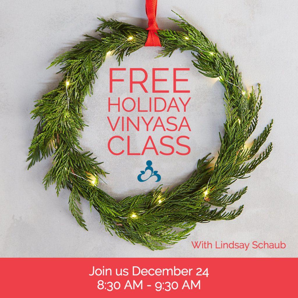 free holiday vinyasa classes lake mills yoga co op